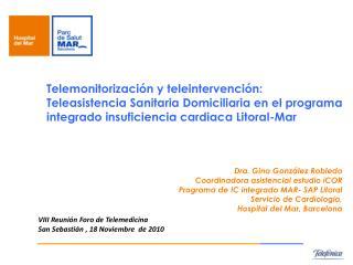 VIII Reunión Foro de Telemedicina San Sebastián , 18 Noviembre  de 2010