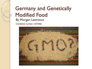 Germany and Genetically Modified Food