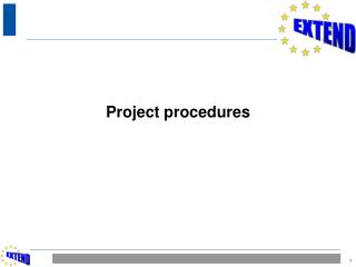 Project procedures