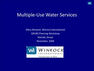 Multiple-Use Water Services