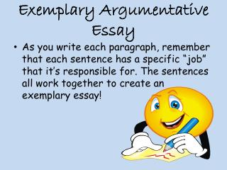 Exemplary Argumentative Essay