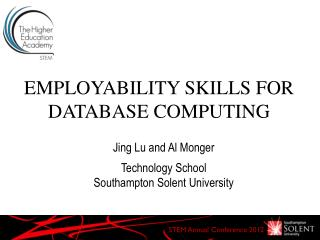 EMPLOYABILITY SKILLS FOR DATABASE COMPUTING