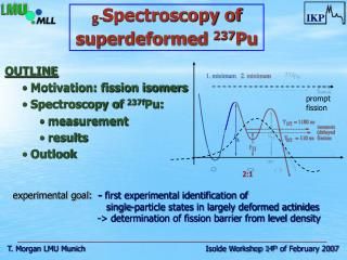 OUTLINE  Motivation: fission isomers  Spectroscopy of  237f Pu:  measurement  results  Outlook