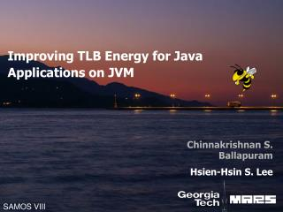 Improving TLB  E nergy for Java  A pplications on JVM