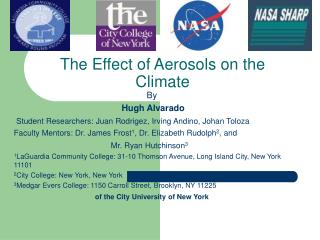 The Effect of Aerosols on the Climate