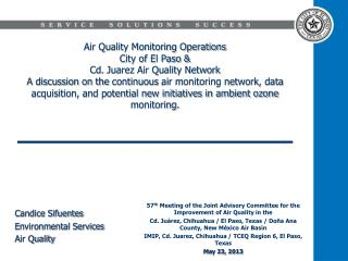 57 th  Meeting of the Joint Advisory Committee for the Improvement of Air Quality in the