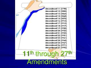 11 th  through 27 th  Amendments