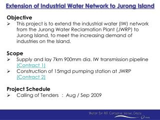 Extension of Industrial Water Network to Jurong Island
