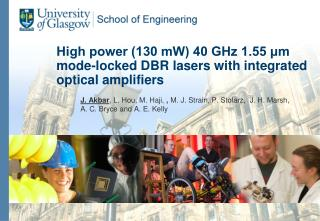 High power (130 mW) 40 GHz 1.55 μm mode-locked DBR lasers with integrated optical amplifiers