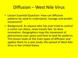 Diffusion – West Nile Virus