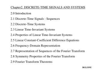 Chapter2. DISCRETE-TIME SIGNALS AND SYSTEMS