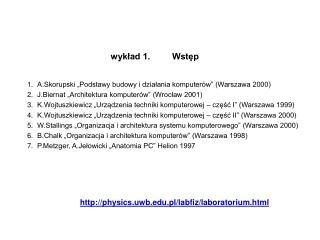"""A.Skorupski """"Podstawy budowy i działania komputerów"""" (Warszawa 2000)"""