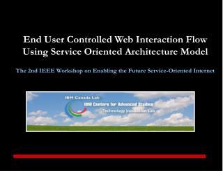 Concept Originator & Author:  Joanna Ng Head of CAS, IBM Canada Lab, Toronto