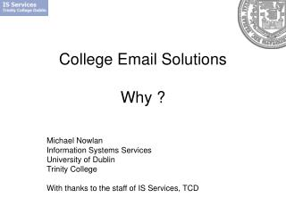 College Email Solutions Why ?