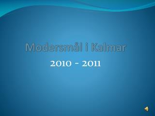 Modersmål i Kalmar