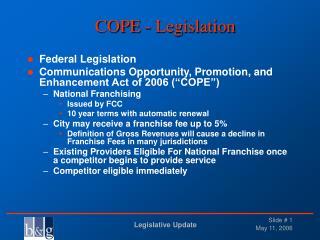 COPE - Legislation