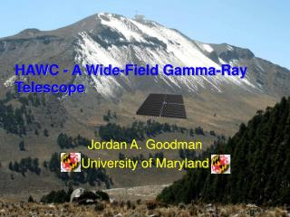 HAWC - A Wide-Field Gamma-Ray Telescope