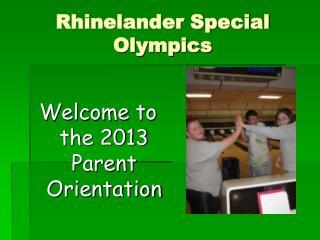 Rhinelander Special Olympics