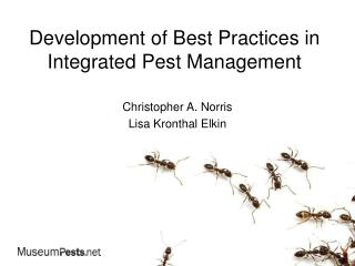Development of Best Practices in Integrated Pest Management