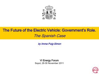 The Future of the Electric Vehicle: Government's Role. The Spanish Case by Imma Puig-Simon