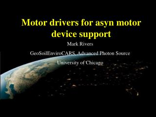 Motor drivers for asyn motor device support