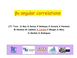 bn  angular correlations