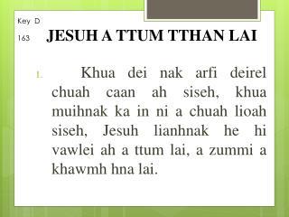 Key  D 163 JESUH A TTUM TTHAN LAI