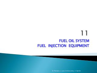 FUEL OIL SYSTEM FUEL  INJECTION  EQUIPMENT