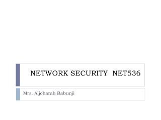 NETWORK SECURITY  NET536