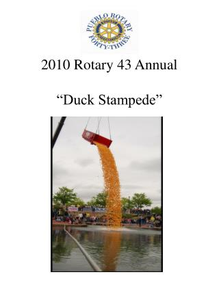 2010 Rotary 43 Annual   Duck Stampede