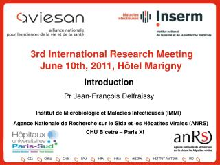 3rd International Research Meeting June 10th, 2011, Hôtel Marigny