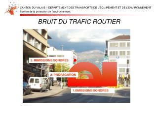 BRUIT DU TRAFIC ROUTIER