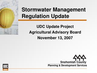 Stormwater Management Regulation Update