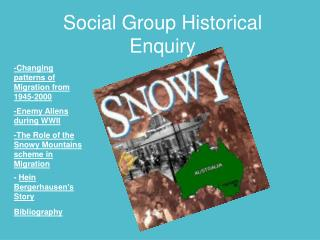 Social Group Historical Enquiry