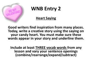 WNB Entry  2