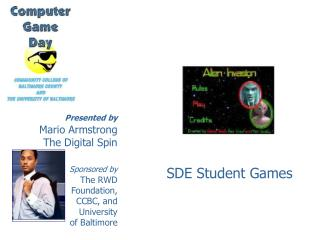 Presented by Mario Armstrong The Digital Spin Sponsored by The RWD Foundation, CCBC, and