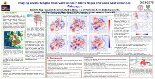Imaging Crustal Magma Reservoirs Beneath Sierra Negra and Cerro Azul Volcanoes, Gal a pagos