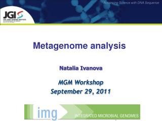 Metagenome analysis