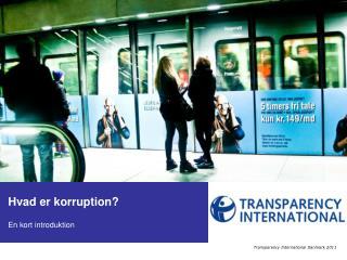 Hvad er korruption? En kort introduktion