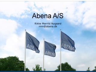 Rikke Merrild Nygaard rmn@abena.dk