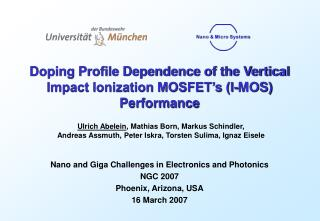 Doping Profile Dependence of the Vertical Impact Ionization MOSFET's (I-MOS) Performance