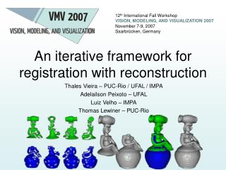 An iterative framework for registration with reconstruction