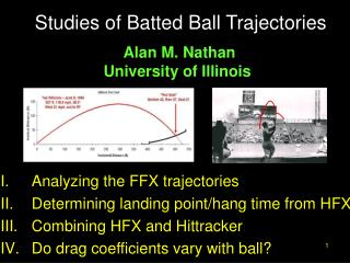 Studies of Batted Ball Trajectories