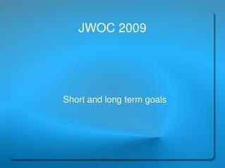 JWOC 2009