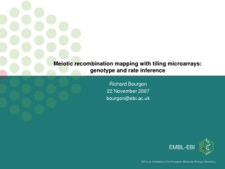 Meiotic recombination mapping with tiling microarrays: genotype and rate inference
