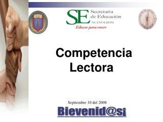 Competencia  Lectora