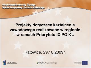 Urząd Marszałkowski Woj. Śląskiego Wydział Europejskiego Funduszu Społecznego