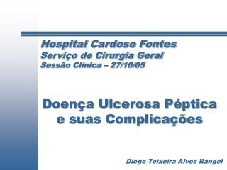Hospital Cardoso Fontes Servi o de Cirurgia Geral Sess o Cl nica   27
