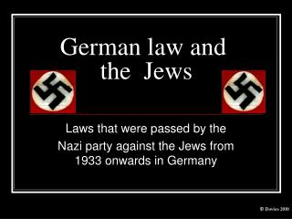 German law and  the  Jews