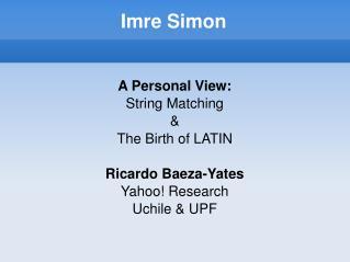 Imre Simon